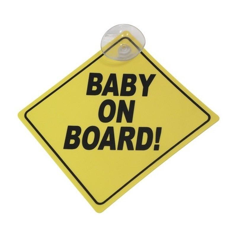 Veilig autorijden bord baby on board 12 cm
