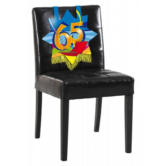 Verjaardags stoel decoratie 65 jaar