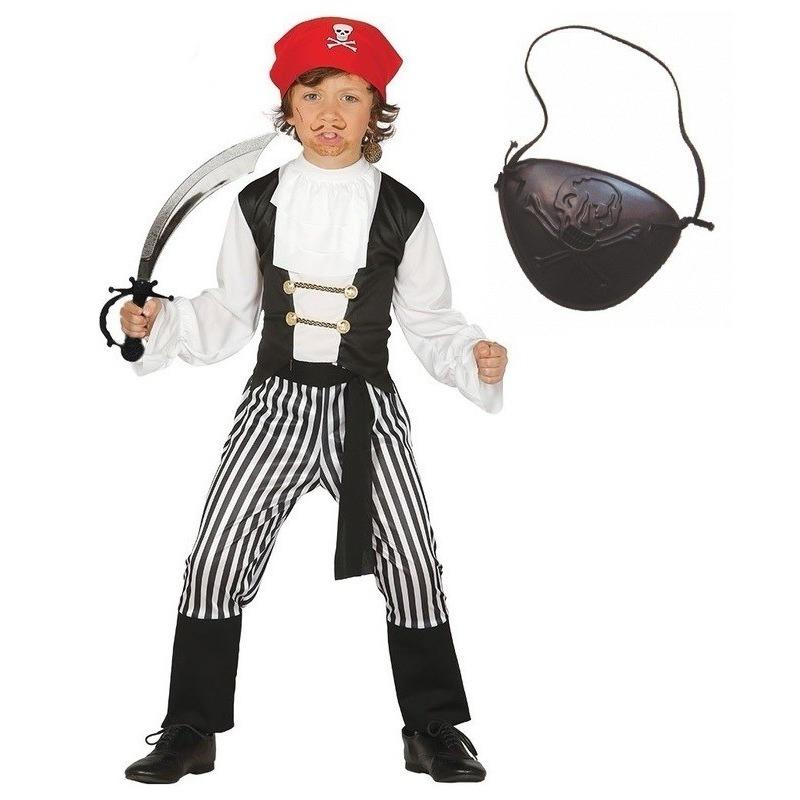Verkleed piraten outfit voor kinderen maat 110-116