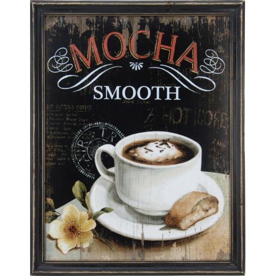 Vintage muurdecoratie koffie mocha