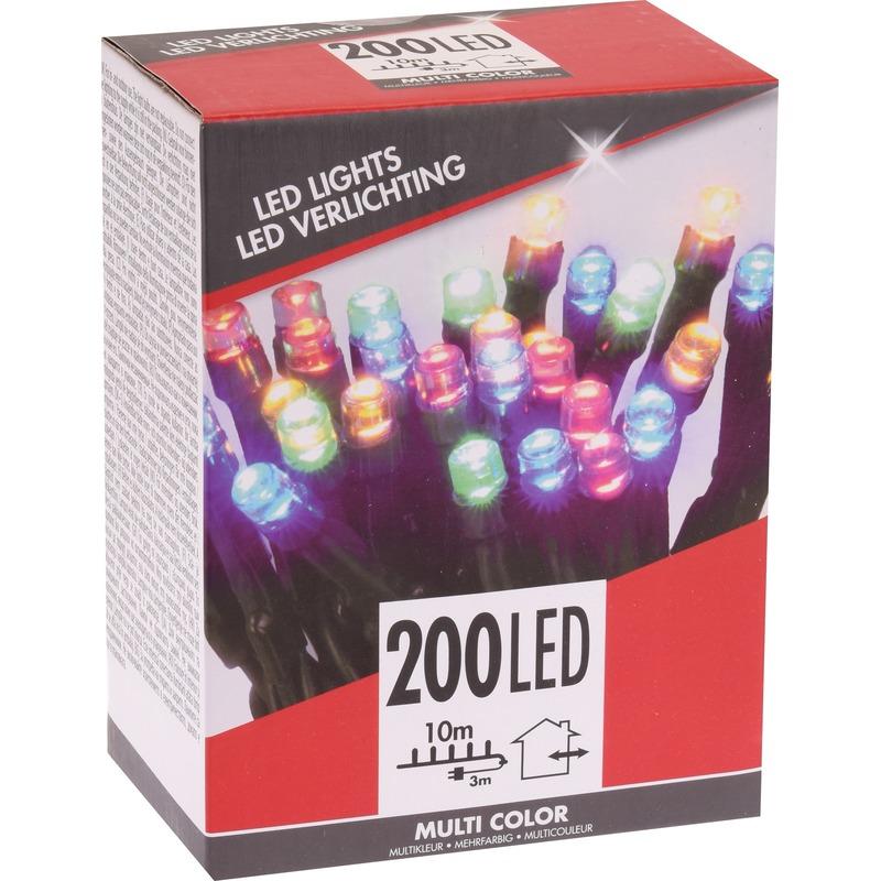 Voordelige kerstverlichting kleur buiten 200 lichtjes