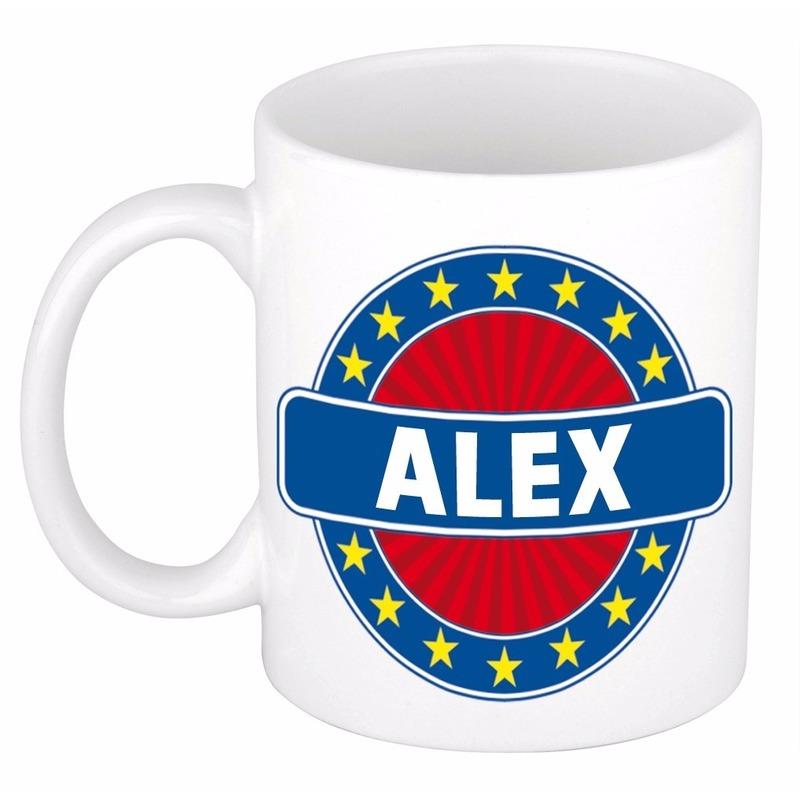 Voornaam Alex koffie-thee mok of beker