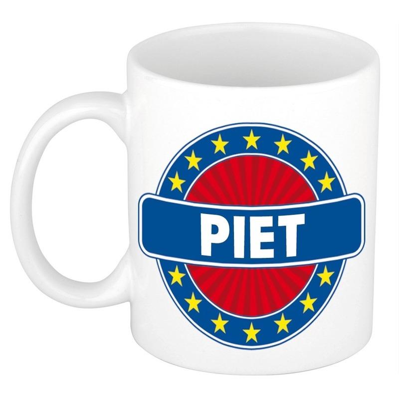 Voornaam Piet koffie/thee mok of beker