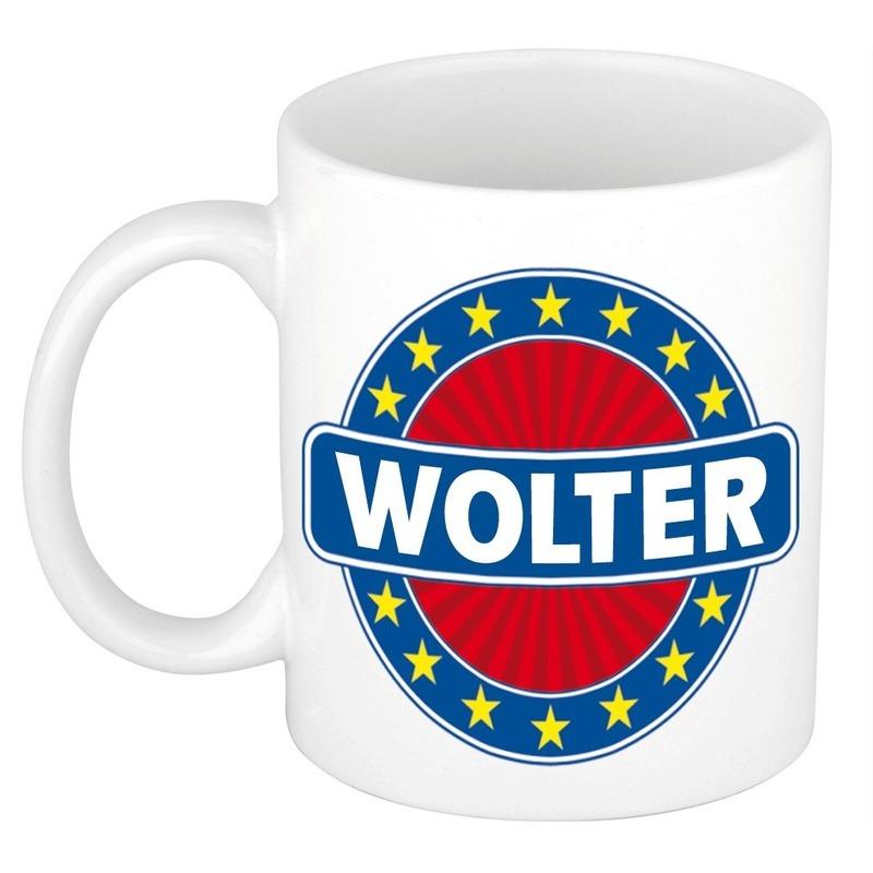 Voornaam Wolterkoffie/thee mok of beker