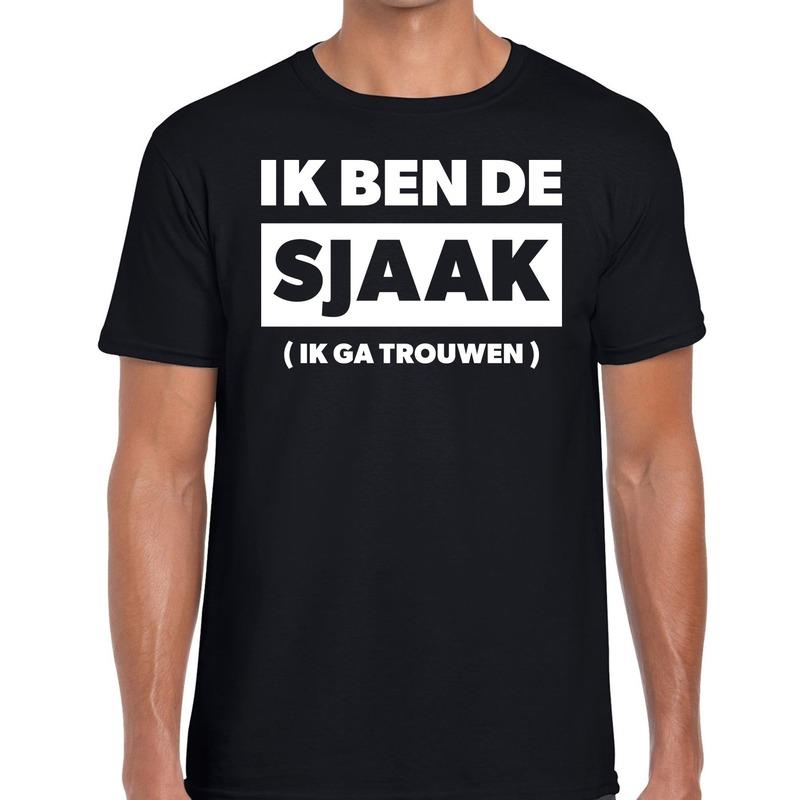 Vrijgezellenfeest bruidegom tekst t-shirt zwart heren