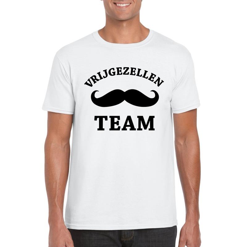 Vrijgezellenfeest shirt wit voor heren