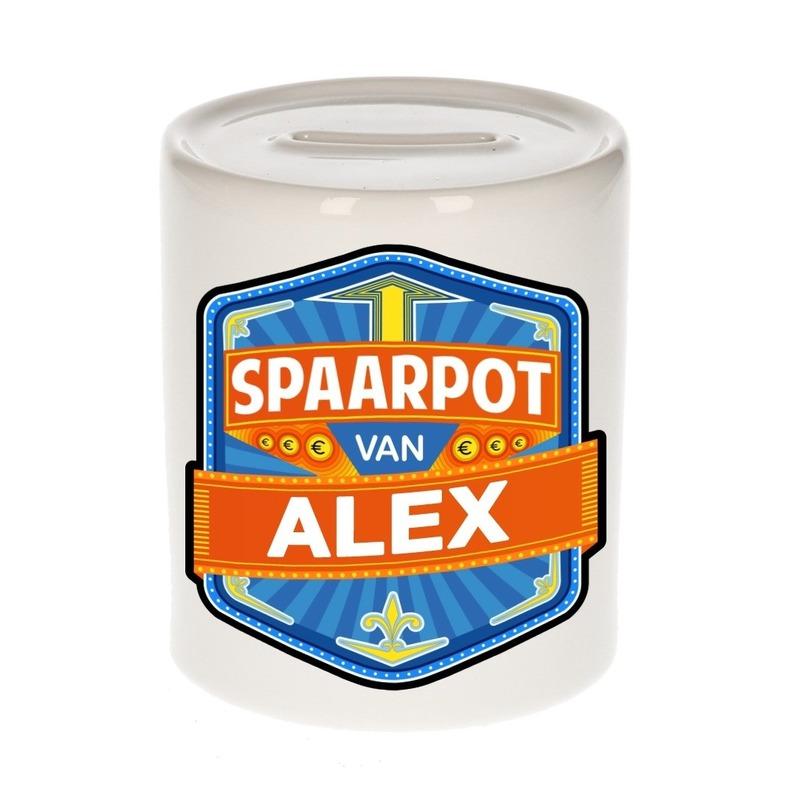Vrolijke kinder spaarpot voor Alex