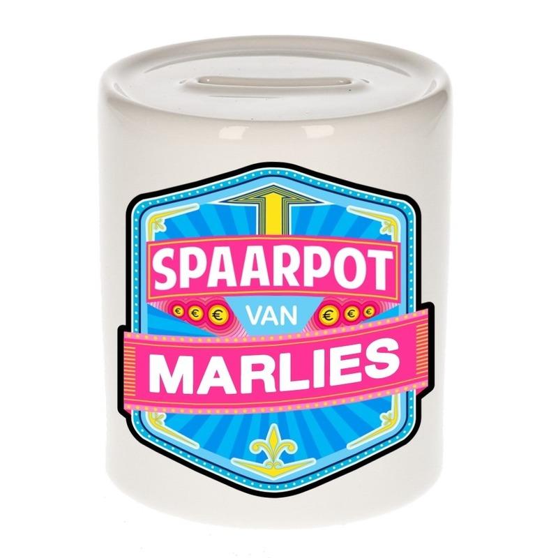 Vrolijke kinder spaarpot voor Marlies