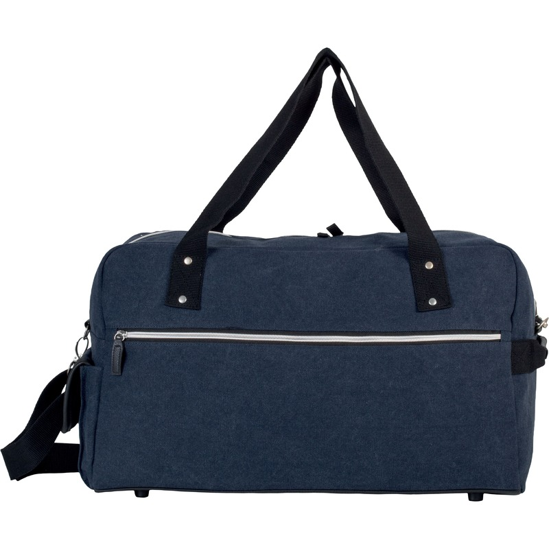 Weekendtassen-reistassen vintage navy blauw 50 cm