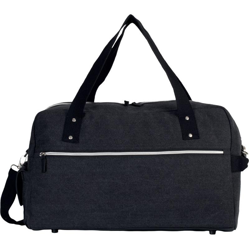 Weekendtassen-reistassen vintage zwart 50 cm
