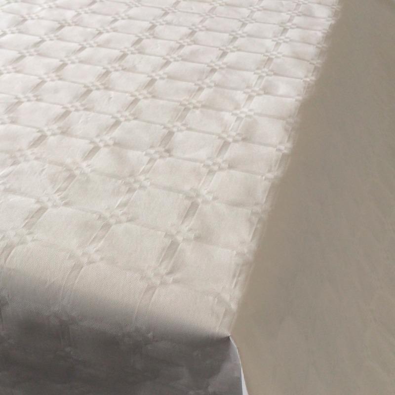 Witte thema versiering papieren tafelkleed 800 x 118 cm