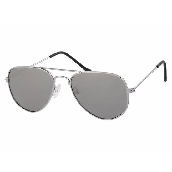 Zilveren baby en peuter pilotenbrillen