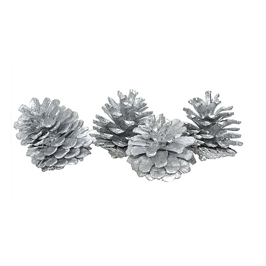 Zilveren dennenappels 20 stuks