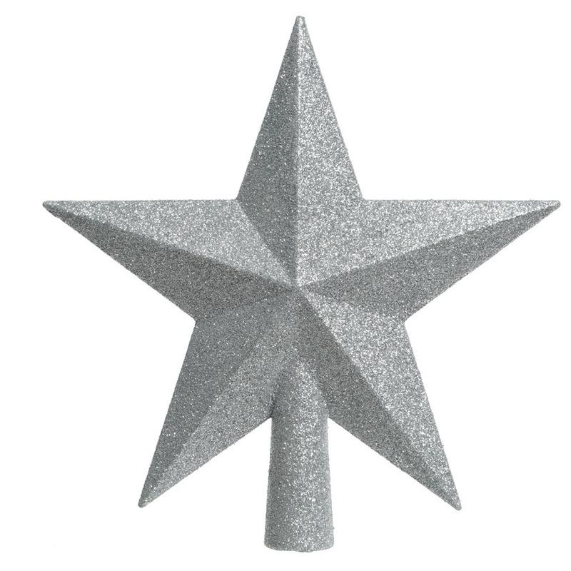 Zilveren kerstversiering piek 19 cm