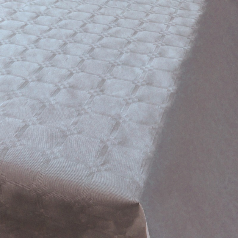 Zilveren thema versiering papieren tafelkleed 800 x 118 cm