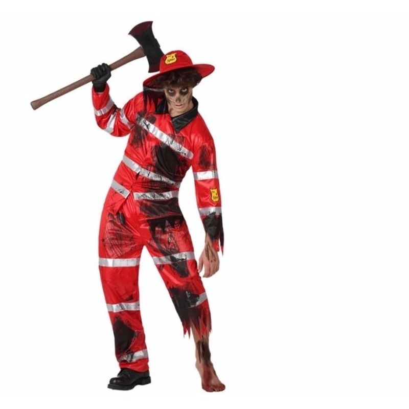 Zombie brandweerman outfit