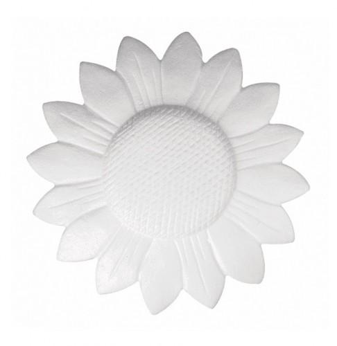 Zonnebloem van piepschuim 15 cm
