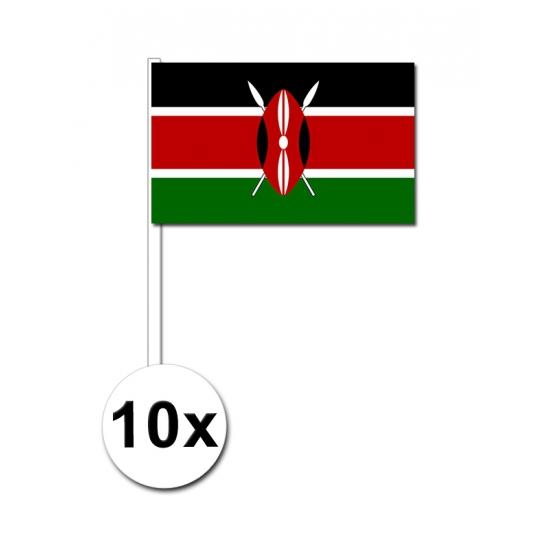Zwaaivlaggetjes Kenia 10 stuks