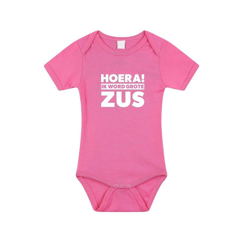 Zwangerschapsaankondiging rompertje grote zus roze meisje