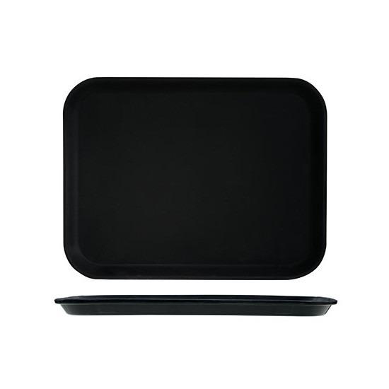 Zwart dienblad 30 x 41 cm kunststof