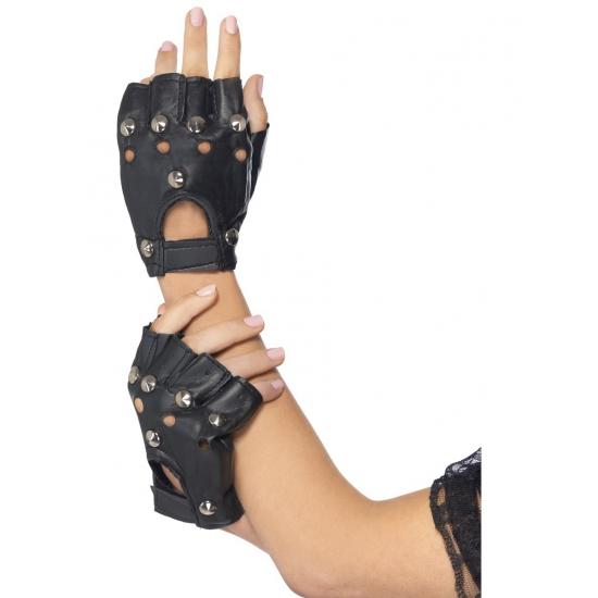Zwart Met Zilveren Handschoenen