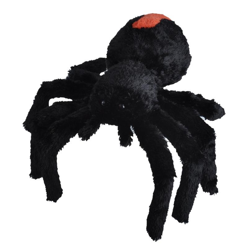 Zwarte spinnen knuffels 35 cm knuffeldieren