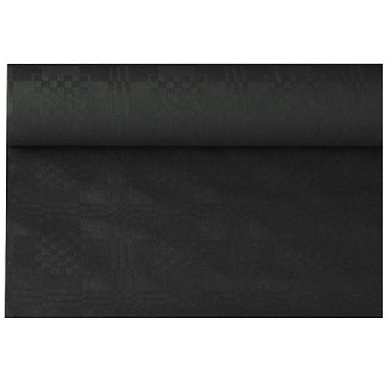 Zwarte thema versiering papieren tafelkleed 800 x 118 cm